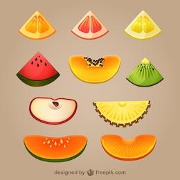 Rodajas de frutas