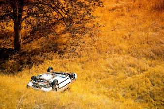 Rollover Crashed Car