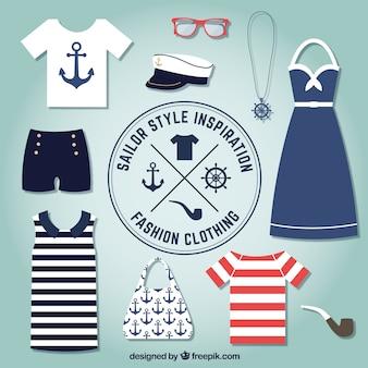Ropa de moda en el estilo marinero