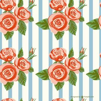Rosas patrón continuo