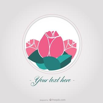 Plantilla con rosas elegantes