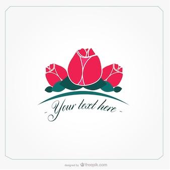 Plantilla con rosas minimalistas