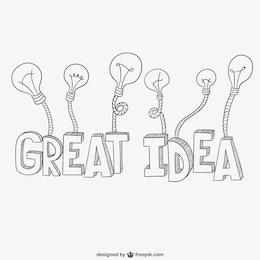 Rótulo de gran idea