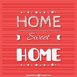 Rótulo de hogar dulce hogar