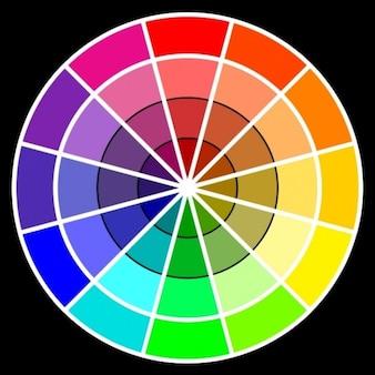 Rueda de color básico psd archivo