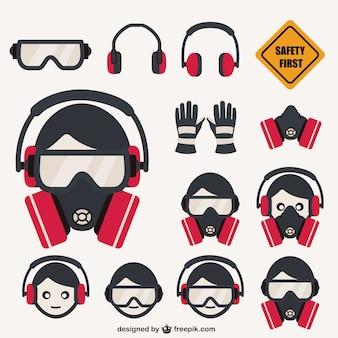Conjunto de elementos de seguridad