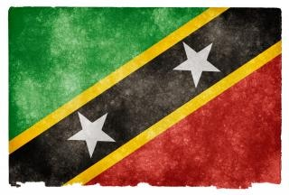 Saint Kitts y Nevis grunge bandera st