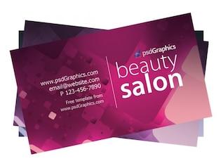 Salón de belleza tarjetas de visita