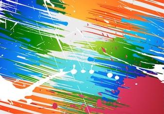 salpicaduras de pintura abstracta cepillo de vectores de fondo