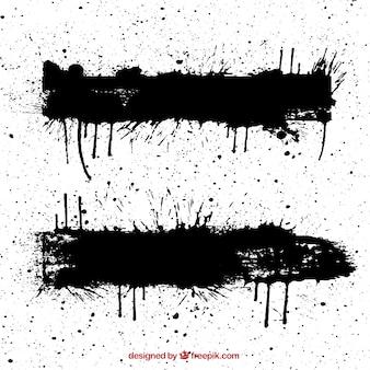 Salpicaduras negras