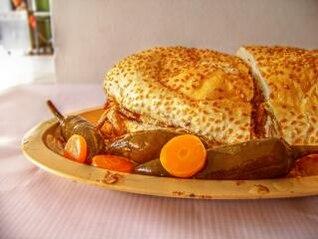 sándwich de carne de cerdo mexicana