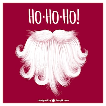 Vector de barba de Santa Claus