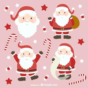 Colección de dibujos animados de Santa Claus
