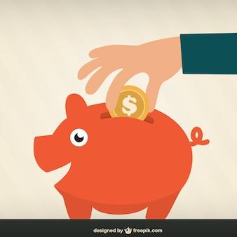 Ahorrar dinero vector