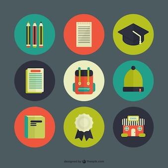 Colección de iconos de escuela