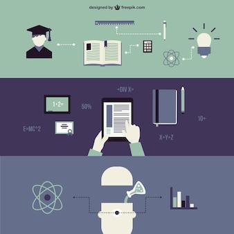 Elementos gráficos de escuela y ciencia