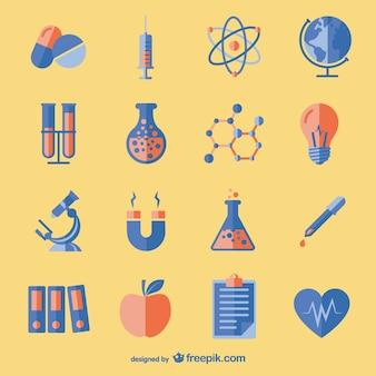 Iconos de ciencia y educación