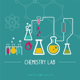 Ilustración laboratorio de ciencias