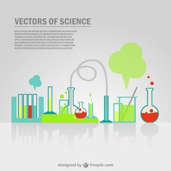 Vector plantilla de experimentos científicos