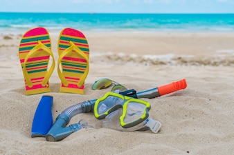 Scuba seguridad respiratoria primer plano de verano