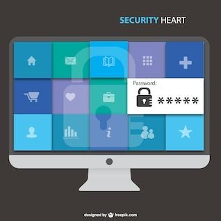 Seguridad en pantalla de ordenador