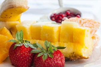 Selección de fruta deliciosa
