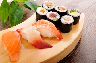 Selección de sushi