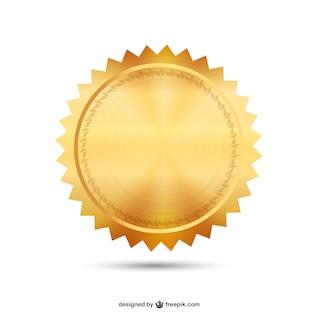 Sello de oro vector
