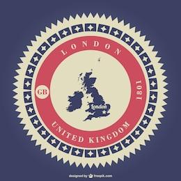 Sello retro de Reino Unido