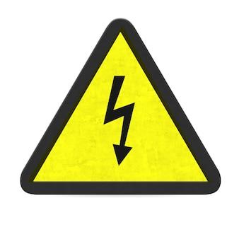 Señal de advertencia eléctrica