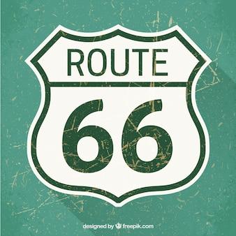 Señal de tráfico de la ruta 66
