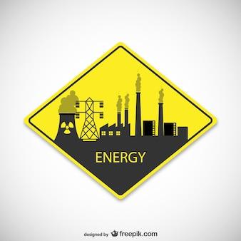 Señal vectorial de plantas de energía