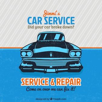 Señal vintage de servicio de coche