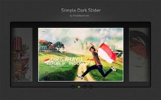 sencillo control deslizante oscura imagen de la interfaz de usuario elemento psd