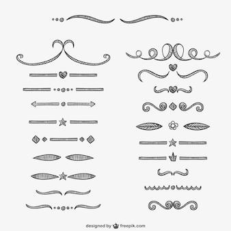 Separadores caligráficos