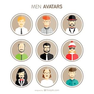 Set de avatares de hombre