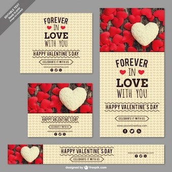 Set de banners de San Valentín