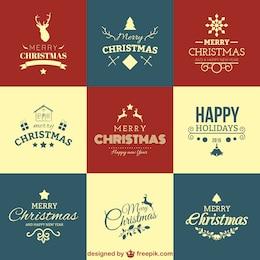 Set de felicitaciones de Navidad