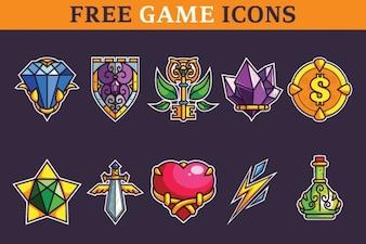 Conjunto de iconos de juegos clásicos