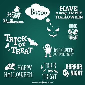 Conjunto de etiquetas y pegatinas de Halloween