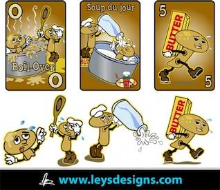 Setas caricaturas