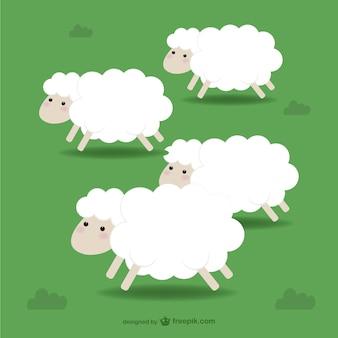 Ilustración de ovejas
