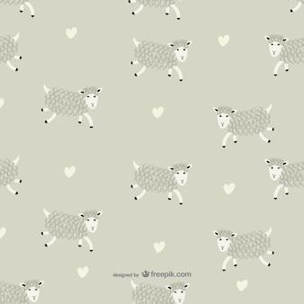 Vector de patrón de ovejas