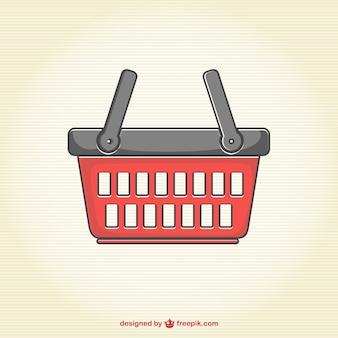 Vector de cesta de la compra