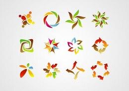 Signo abstracto, símbolo, logotipo, elementos de diseño de iconos