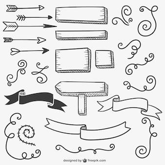 Signos y flechas caligráficas