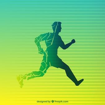 Silueta abstracta de un hombre corriendo