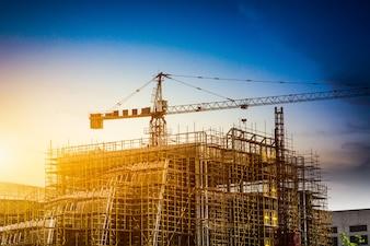 Silueta de la construcción