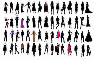 silueta de las chicas de moda