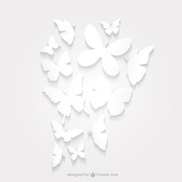 Silueta de mariposa de papel paquete